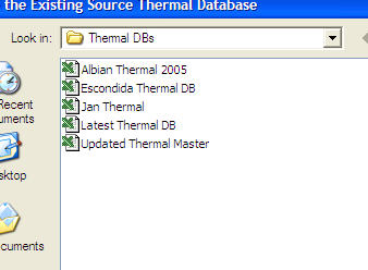 Select Thermal DB for Trend